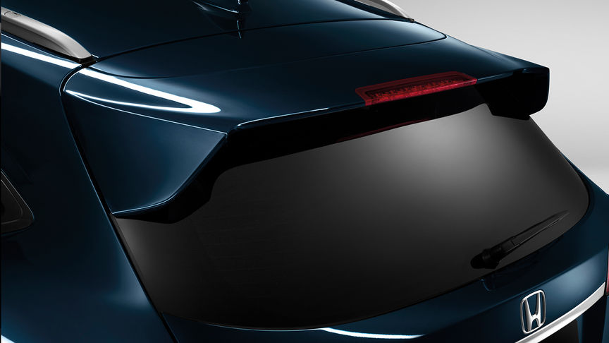 Close up of Honda HR-V tailgate spoiler.