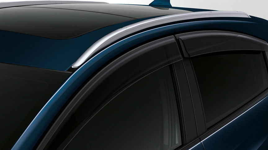 Close up of Honda HR-V door visors.