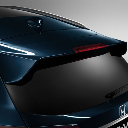 Side view  of Honda HR-V tailgate spoiler.