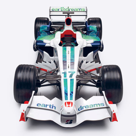 Výrez automobilu Honda Earth Dreams Formula One.